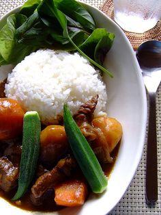 Japanese curry rice by Miki Nagata (bananagranola), via Flickr