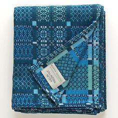Buy Melin Tregwynt Knot Garden Throw, Blue Online at johnlewis.com