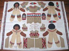 Indian Dolls cloth doll panel