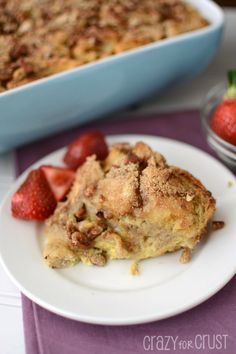 Want an easy breakfast recipe? Try this Overnight Banana Stuffed French Toast and you'll enjoy relaxing instead of cooking tomorrow morning!