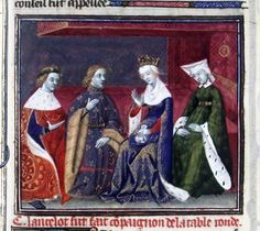 Guenièvre prie Lancelot de rester (Lancelot Ms Fr118) - M. des cleres femmes - Utpictura18