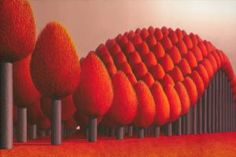 Surrealism Painting - Populus Flucta by Patricia Van Lubeck Repetition Art, Tree Artwork, Visionary Art, Tree Designs, Shades Of Red, Unique Art, Art Boards, Fine Art America, Original Artwork