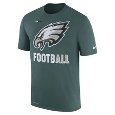 Men s Nike Midnight Green Philadelphia Eagles Sideline Legend Football  Performance T-Shirt 655af3c36