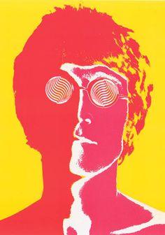 John Lennon Psychedelic Avedon Beatles Poster 23x33 – BananaRoad
