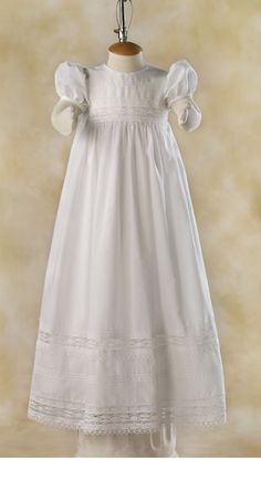 Lace and Tucks blessing dress