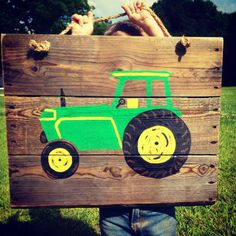 Rustic tractor pallet sign by TURQUOISETOO on Etsy