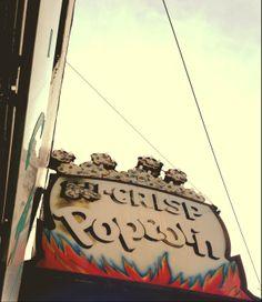 Nu-Crisp Popcorn in the Sugarhouse Neighborhood in Salt Lake City, Utah.  Watch For Signs.  Vintage.