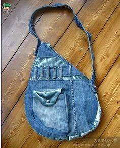 Te muestro ideas e inspiración para reciclar pantalones vaqueros haciendo maravillosos bolsos. Pon en marcha tu creatividad con estos maravillosos bolsos y haz el tuyo totalmente personalizado y ún…