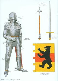 Knights in Armor Paper Dolls * Free paper dolls at Arielle Gabriel's The International Paper Doll Society