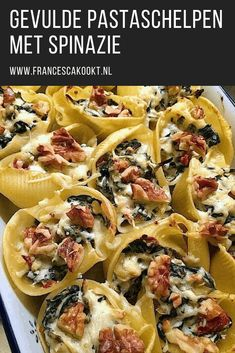Stuffed pasta shells with spinach Francesca Cooks Stuffed pasta shells with. Italian Recipes, Vegan Recipes, Snack Recipes, Diner Menu, Canned Blueberries, Tapas, Vegan Scones, Scones Ingredients, Good Food