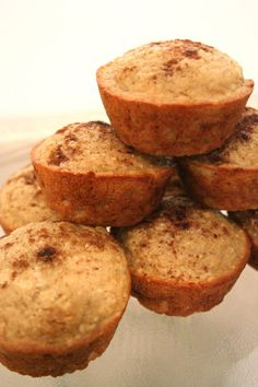 Low Fat Applesauce Oatmeal Muffins | 3 ww points+