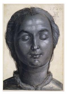 Printroom British Museum Albrecht Dürer, Head of a Woman, drawing