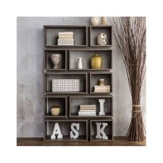 Furniture of America Cassidy Tiered Distressed Grey Open Bookcase - would need 2 of these Furniture Deals, Home Office Furniture, Living Room Furniture, Online Furniture, Furniture Outlet, Grey Furniture, Furniture Storage, Outdoor Furniture, Open Bookcase