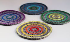 Step-by-step instructions for crocheting these adorable and practical drink coasters.