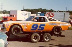 Darrell Waltrip's car after the 1974 Music City 420 Cup Race Real Racing, Dirt Racing, Auto Racing, 1965 Chevelle, Chevrolet Chevelle, Chevy, Riverside Raceway, Slot Car Sets, Michael Waltrip