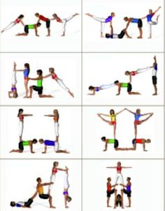 Three Person Yoga Poses, Dance Camp, Partner Yoga, Yoga Challenge, Pole Dancing, Stunts, Cheerleading, Pilates, Challenges