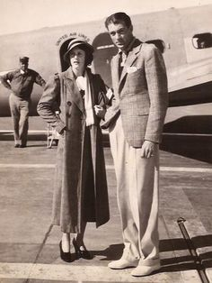 Gary Cooper and his girlfriend Sandra Shaw at the LA Airport on Nov 11th 1933.