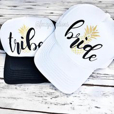 Rock with your Bride TRIBE in style with our super cute and custom Bachelorette Party Pineapple Trucker Hats. All eyes will be on you and your girls in Vegas, Miami, Palm Springs, Nashville, Cabo, New Orleans.....Perfect for Bachelorette Parties in city or at any beach! Each hat is sold individually. Please see purchasing instructions below. _______________________________________________________ ►RETURN POLICY -- ALL SALES FINAL -- All FM2Y shirts/hats/other apparel are custom, mad...