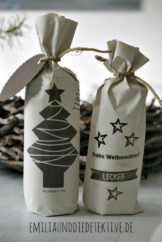DIY ★ Schöne Verpackung zu Weihnachten aus Recycling - Papier! #weihnachten #adventskalender #Verpackung #packaging #DIY http://emiliaunddiedetektive.blogspot.de