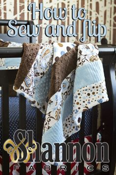 Make a sew and flip ‪#‎Cuddle‬ quilt! @Fleece Fun shows you how. Features our Cuddle Throw Kit Mocha/ Blue http://www.shannonfabrics.com/cuddle-throw-kit-mochablue-p-3666.html?zenid=ef41c048f348815c9a2a21b7171849eb. Tutorial: http://shannonfabrics.com/blog/2013/08/03/learn-to-sew-and-flip-with-shannon-fabrics/