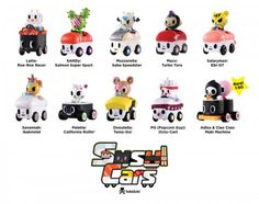 Sushi Cars Blind Box By Tokidoki Worldwide Release