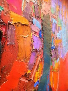 Brian Rutenberg artist: Saltwater show. Oil paint on canvas. Detail shot from below left point of view.