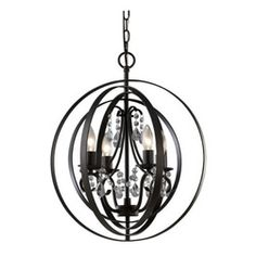 Canarm - Jordan Oil Rubbed Bronze Four Light Chandelier Glass - - Jordan has timeless spheres in Oil Rubbed Bronze finish that enclose intricately draped crystal adornments . Chain hung. 4x60W C bulbs  - Product Material: Steel/Lead wire/Zinc die cast  - Energy Star: No  - Canopy/Back plate dimensions: 5  - Bulb Included: No  - Chain Length (Inches)-: 60  - Wire Length (Inches)-: 90 Canarm - ICH232B04ORB18