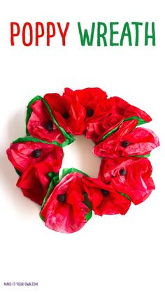 Poppy Wreath Make this easy and inexpensive coffee filter wreath for Canada's Remembrance Day. Inspired by the poppies of John McCrae's In Flanders Field poem. Coffee Filter Wreath, Coffee Filter Crafts, Coffee Filter Flowers, Poppy Craft For Kids, Art For Kids, Crafts For Kids, Remembrance Day Activities, Remembrance Day Poppy, Wreath Crafts