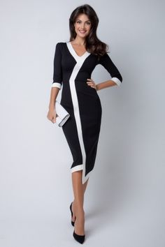 37 Ideas clothes for women business simple Fashion Line, Hijab Fashion, Fashion Dresses, Fashion Clothes, Elegant Dresses, Beautiful Dresses, Dress Clothes For Women, Business Dresses, Mode Hijab