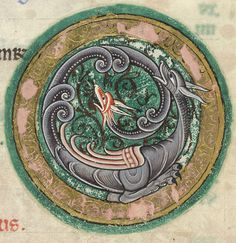 The Hunterian Psalter: Calendar. Zodiac Sign of Scorpio.
