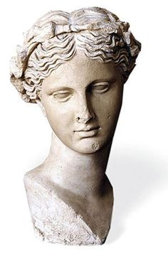 Thalia, Muse of Comedy Sculpture; Find sculpture reproductions of original works at The Met Store that are inspired by the Museum's collection. Greek Goddess Statue, Aphrodite Goddess, Roman Sculpture, Sculpture Art, Thalia, Statues, 7 Arts, Marble Bust, Daughter Of Zeus