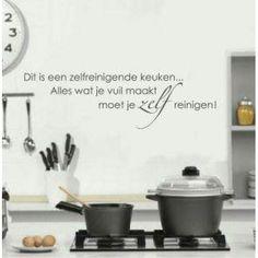 Muursticker - Zelfreinigende keuken