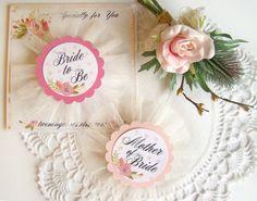 Bride to Be Pin Team Bride Bride Squad Bride Tribe Pink