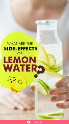 What Are The Side-Effects Of Lemon Water? Lemon juice in the early morning helps you lose weight – yes, that is an accepted fact. But do you know the ill-effects of it on your health? Keep reading to know its possible harmful effects. #Health #Wellness #HealthCare #SideEffects #LemonWater Lemon Water Diet, Hot Lemon Water, Drinking Lemon Water, Effects Of Lemon Water, Lemon Water In The Morning, Food For Digestion, Cold Meals, Weight Loss Smoothies