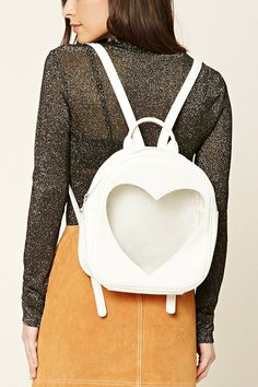 Faux Leather Heart Backpack