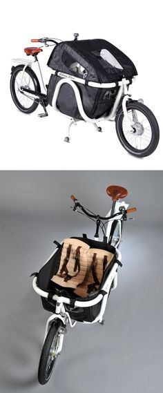 Mont Blanc Cargo Bike with adjustable child seats - fun family ride. This is awesome!
