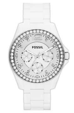 Fossil 'Small Riley' Round Chronograph Bracelet Watch, 38mm available at #Nordstrom Loving this watch!