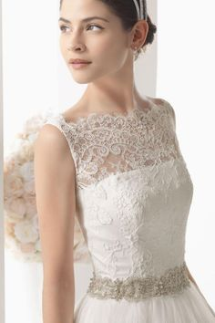 A-line Tulle,lace Wedding Dress