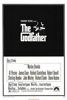 View this item and discover similar for sale at - Original vintage film poster for the movie classic by Mario Puzo and Francis Ford Coppola, The Godfather, starring Marlon Brando, Al Pacino and James Caan. Iconic Movie Posters, Original Movie Posters, Iconic Movies, Classic Movies, 1970s Movies, Oscar Movies, Disney Movie Posters, Cult Movies, Watch Movies