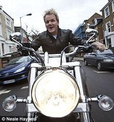 Gordon Ramsay on his wheels