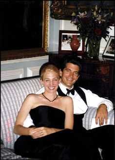 File pictures of John John Kennedy and wife Carolyn Bessette Kennedy