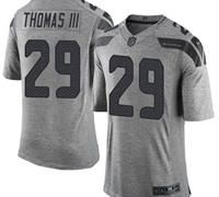 Nike Seattle Seahawks #29 Earl Thomas III Gray Men's Stitched NFL Limited Gridiron Gray Jersey