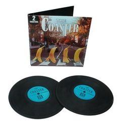 keladeco.com - dessous de #verre disque #vinyl bleu, sous verre apéritif, idée deco #apero musique - LA CHAISE LONGUE
