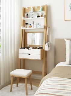 8 Gorgeous Compact Dressing Tables Perfect For Small Bedrooms Dressing Table For Small Space, Dressing Table Design, Dressing Table For Bedroom, Narrow Dressing Table, Small Vanity Table, Small Bedroom Vanity, Very Small Bedroom, Dressing Table Vanity, Small Room Bedroom