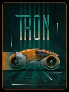 Tron by DKNG / Store X screen print, numbered edition of Available CST Monday, November HERE. Cultura Pop, Tron Art, Tron Uprising, Starwars, Light Cycle, The Iron Giant, Tron Legacy, Alternative Movie Posters, Alternative Art