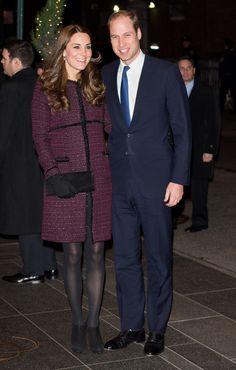 Kate Middleton's NYC style // eggplant colored coat