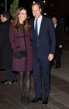 Kate Middleton's NYC style // eggplant colored coat