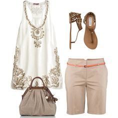 To My Stitch Fix Stylist: I like this outfit for summer. Not interested in the purse.