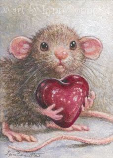 Art by Lynn Bonnette: My Valentine Heart: – Valentines Day İdeas 2020 Maus Illustration, Illustrations, Animal Drawings, Cute Drawings, Owl Drawings, Marjolein Bastin, Pet Mice, Cute Mouse, Whimsical Art