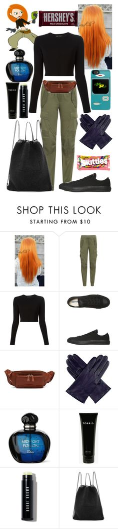 """""""Kim possible costume"""" by chloe12801 ❤ liked on Polyvore featuring Disney, Polo Ralph Lauren, Proenza Schouler, Converse, Osgoode Marley, Dents, Torrid, Bobbi Brown Cosmetics, Kara and River Island"""